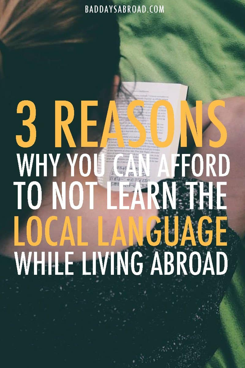 Learning the language abroad