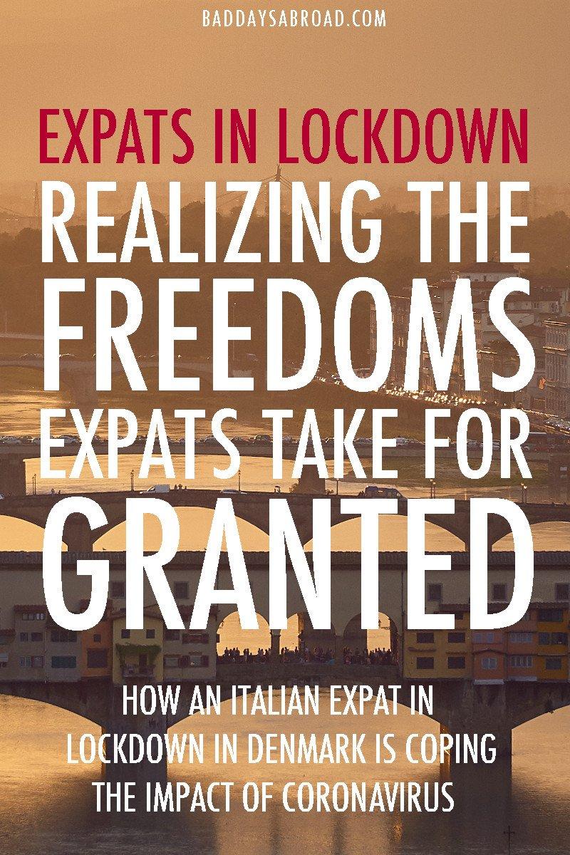 Italian expat in lockdown