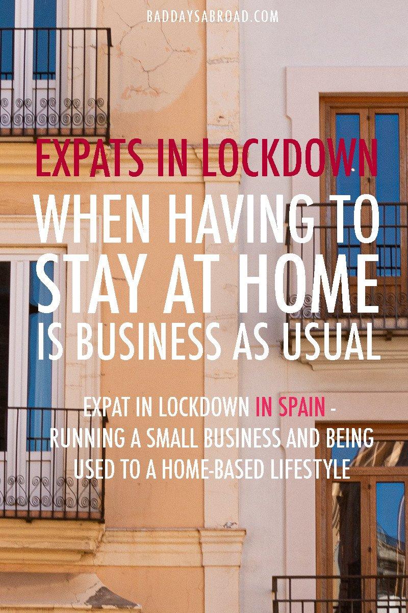 Expat in spain in lockdown