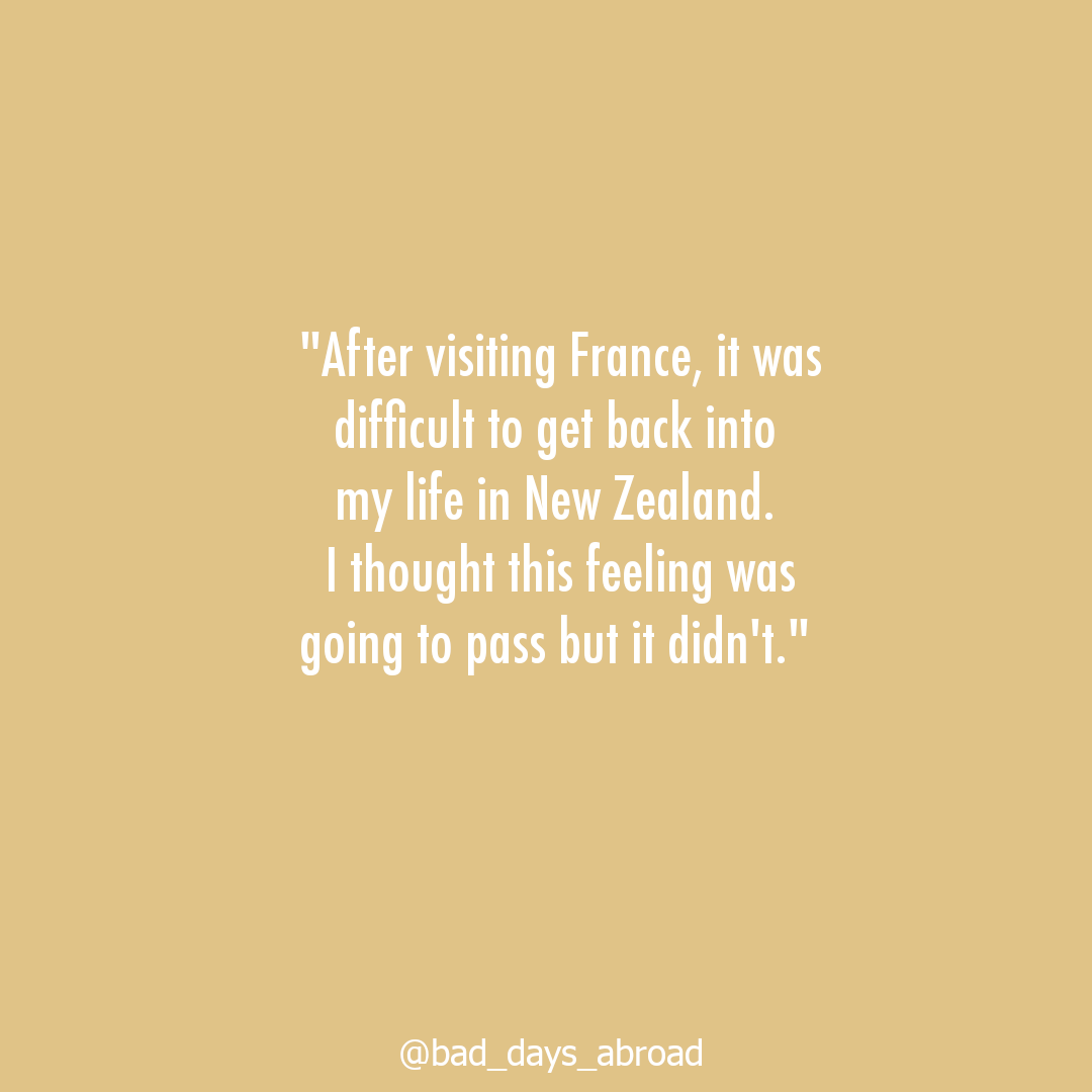 "Stay or go? #2 ""I thought this feeling was going to pass but it was difficult to get back into my life in New Zealand"" (French repat-turned-expat again)"
